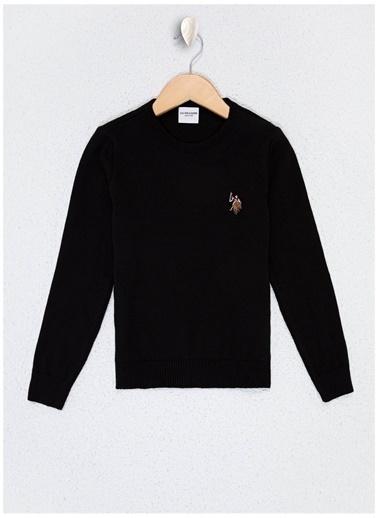 U.S. Polo Assn. U.S. Polo Assn. Siyah Erkek Çocuk Kazak Siyah